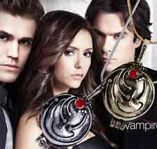 New Vampire Diaries Elena Gilbert Antique Silver Gold Locket Necklace Pendant UK