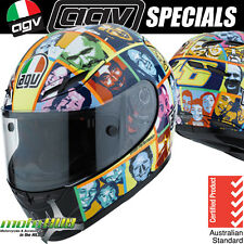 AGV GP-Tech Valentino Rossi Faces Road Bike Race Track Sport Helmet RRP $899