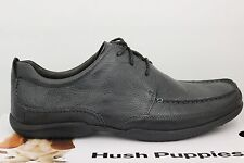Men's Hush Puppies Accel Oxford_MT Black Leather Size 11.5 Extra Wide 103342 New