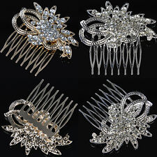 Vintage Silver/Gold Rhinestone Bridal Hair Comb Hairclip Headpiece Wedding Tiara