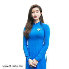 AO DAI VIETNAM CUSTOM MADE, CHIFFON & SATIN, Blue & White, Customize Ao Dai