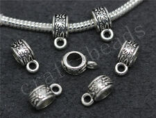 60/300pcs Tibetan Silver Bulk Big Hole European Charms Beads Craft 11x6mm Hot