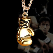 Fashion Silver Tone Boxing Glove Mitt Pendant Male Necklace Mens Jewelry Gift