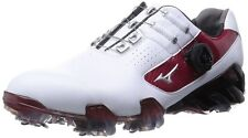 Mizuno Japan Golf Shoes Spike GENEM 005 Boa soft Boots model 51GM1501 White Red