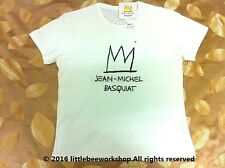 UNIQLO MEN JEAN-MICHEL BASQUIAT CROWN 3D FLOCK Short Sleeve T-Shirt*New*SOLD OUT