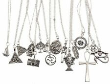 """Hot Tibetan Silver Charms Pendant Necklace Silver Chains For Women Handmade 17"""""""