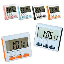 Large LCD Digital Cooking Timer Kitchen Count-Down Up Magnetic Loud Alarm Clock