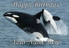 Whale Occasions Personalised Greeting Card Birthday Fathers Mum PIDF44