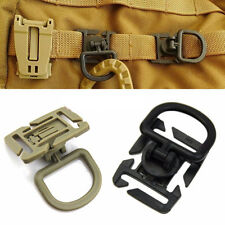 Portable 2PCS 360 Rotation D-Ring Buckle Molle Clip Webbing Locking Carabiner