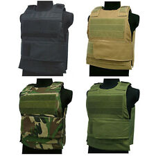 Body Armor Plate Carrier Bullet Proof Stab Vest Ballistic Overt Police Paintball