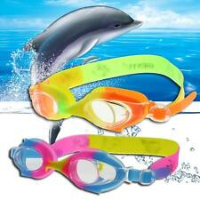 Boys Girls Waterproof UV Protection Anti-Fog Swimming Glasses Goggles With Box