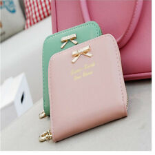 Popular Womens Leather Mini Wallet Card Holder Small Coin Purse Clutch Handbag