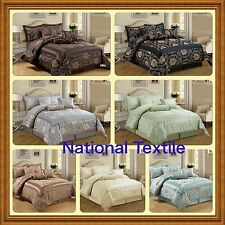 Jacquard,Luxury 7 Piece Comforter Set,Bedspread OR Matching Curtain+Tie/Backs
