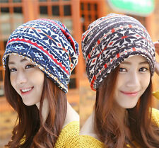 Women Girls Wool Winter Warm Slouch Beret Beanie Baggy Ski Hat Cap Scarf  181