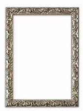 Antique cushion  ornate swept Picture frame photo poster frame SILVER