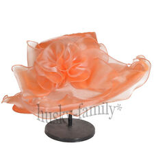 new lady church wedding party derby dress hat wide brim cocktail party sunhat