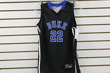 Kid's Nike Duke Blue Devils #22 Black/Blue V-Neck Basketball Jersey Brand New