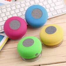 Mini Waterproof Wireless Bluetooth Handsfree Mic Suction Speaker Shower Car New