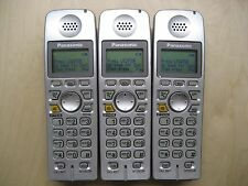 Lot of 3 Panasonic KX-TGA600S 5.8 GHz Cordless Expansion Handset Phone