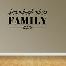 Wall Decal Quote Live Laugh Love Family Family Wall Sticker Decor