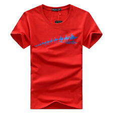 Mens Casual T-Shirt Short Sleeve Slim Fit Muscle Cotton Tee Shirts Size XXS-3XL