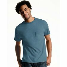 New Hanes Men's TAGLESS ComfortSoft Dyed Crewneck Pocket T-Shirt 4-Pack - 2176A4