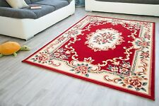 Traditional Rug Woven Short Pile Carpet Oriental Design Mat Red Coloured Rug