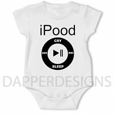 Baby Grow Vest iPood iPod Gift Funny Present Christening Shower Novelty 0-24 MTH