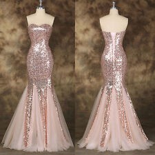Mermaid Style Formal Cocktail Pageant Evening Party Wedding Ball Gown Long Dress