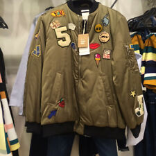ZARA OVERSIZED BOMBER JACKET WITH PATCHES ,BLOGGERS  FAVORITE ,REF.5070/018