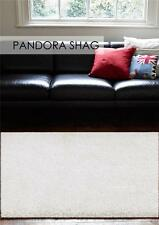 Pan Cream FIVE SIZES New Modern Thick X Heavy Shaggy Floor Rug FREE DELIVERY