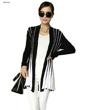 Fashion Women's Stripe Casual Knitwear Sleeve Loose Long Lady Sweater