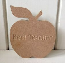 Apple - 15cms - Freestanding - MDF - Best Teacher Thank You Teaching Assistant
