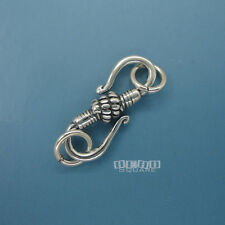 5PC Antique Sterling Silver S Hook Clasp ap. 20mm w/ Open Jump Rings #33225-5