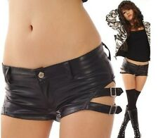 New Fashion Women Sexy Short Metallic Leather Booty Hot Party Pants Mini Shorts