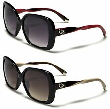 NEW SUNGLASSES BLACK DESIGNER LADIES WOMENS GIRLS OVERSIZED LARGE VINTAGEUV400
