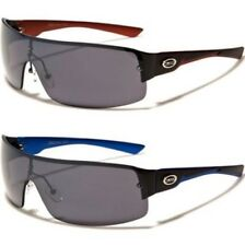 X-LOOP NEW MENS LADIES WOMENS BOYS BIG BLACK SHIELD WRAP SPORTS UV400 SUNGLASSES