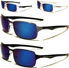 NEW SUNGLASSES BLACK DESIGNER MENS LADIES MIRROR AVIATOR BLUE MIRRORED SPORTS
