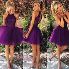 New Short Mini Party Prom Dresses Beaded Tulle Bridesmaid  Homecoming Gowns