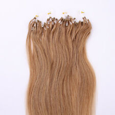 12# Micro Loop Ring Beads Remy Pre Bonded Hair Extensions 100strands