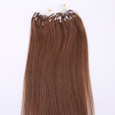 6# Micro Loop Ring Beads Remy Pre Bonded Hair Extensions 100strands