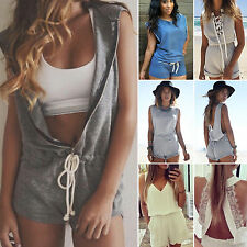 Women Sexy Casual Playsuit Summer Shorts Beach Wear Sun Dresses Ladies Jumpsuit