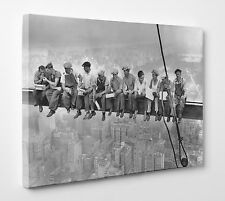 Men On Girder Lunch Iconic New York Skyline Picture Photo Canvas Print Wall Art