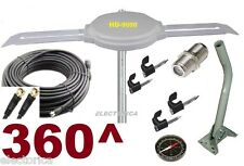 FULL INSTALL KIT+ OMNI 360^ DEGREES HD TV DIGITAL AMPLIFIED UHF OUTDOOR ANTENNA
