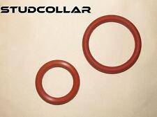 "STUDCOLLAR-SILICONE-DOUBLES - Two Silicone Rubber Penis/Fun Rings Up To 2"" ID !!"