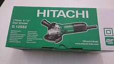 "Hitachi G12SS2 115mm 4-11/2"" disc angle grinder New in the box with spanner"