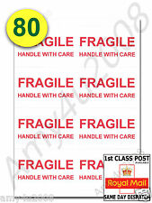 80 x FRAGILE STICKERS HANDLE WITH CARE Extra Large Labels ✔FAST✔FREE DELIVERY