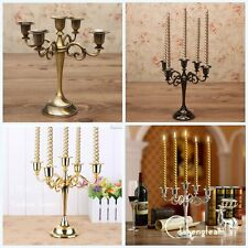 Vintage 5Arm Metal Candle Holder Candelabra Wedding Party + 5Pcs Thread Candles