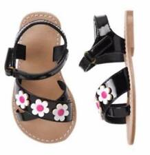 NWT Gymboree Toddler Girls Daisy Park  Black Sandals Size 4 5 & 6