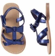 NWT Gymboree Toddler Girls Blue Safari Blue Bow Sandals Size 6 7 & 8